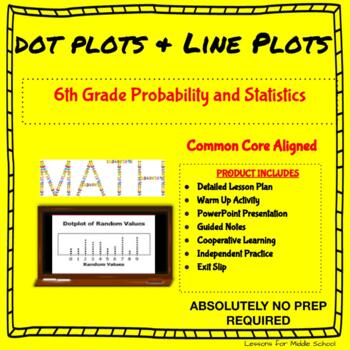6th Grade Statistics  - Dot Plots and Line Plots