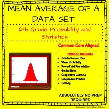 6th Grade Statistics - Mean Average of a Data Set