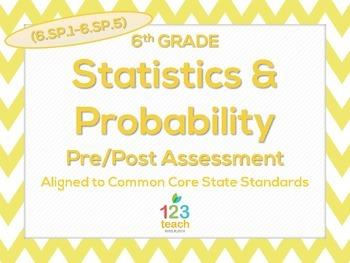 6th Grade Statistics & Probability (6.SP.1 - 6.SP.5) Test