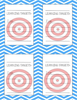 """Student Learning Targets - """"I can"""" for students"""