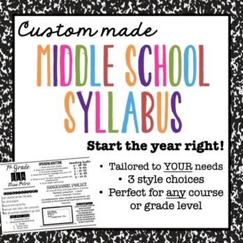 6th and 7th Grade Syllabi