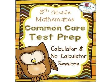 6th grade COMMON CORE MATHEMATICS Test