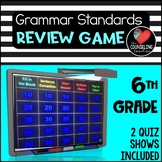 6th grade Grammar Review Quiz Show (2 Game bundle) Common
