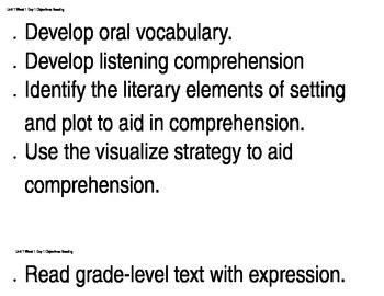 6th grade Reading Street Unit 1, Week 1 Learning Objective