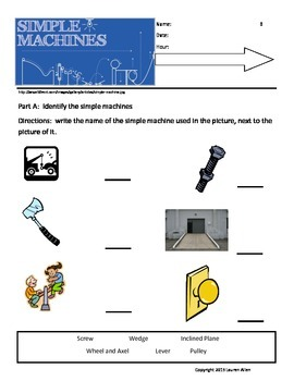 6th grade Simple Machines, Work and Power-ESL,SPED,BASIC