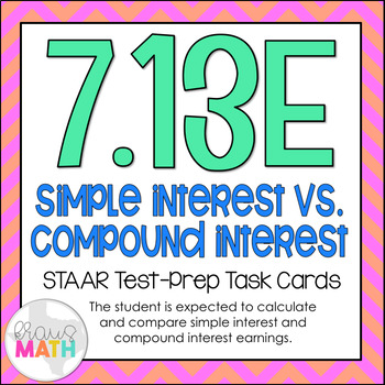 7.13E: Simple & Compound Interest STAAR Test-Prep Task Car