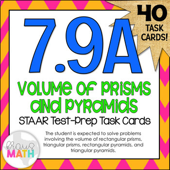 7.9A: Volume of Prisms & Pyramids STAAR Test-Prep Task Car