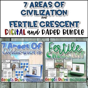 7 Areas of Civilization & Fertile Crescent Bundle
