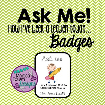 7 Ask Me Cards Badge - How I've Been Leader, Habits