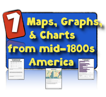 7 Charts, Maps, & Graphs from 19th Century America: Teachi