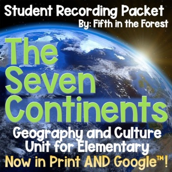 7 Continents Geography Student Recording Packet