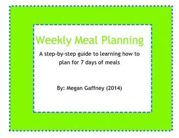 7 Day Meal Planning