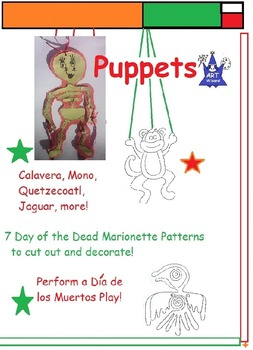 Day of the Dead or Dia de los Muertos - Art Puppets (10 Pr