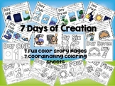 7 Days of Creation Story Boards and Coloring Sheets