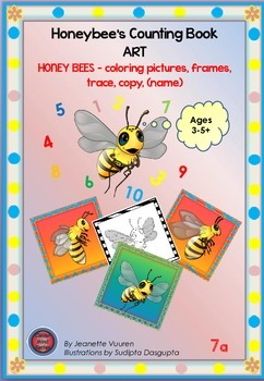 COLORING PICTURES: HONEYBEE PICTURES & FRAMES-7a