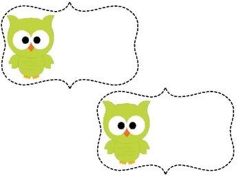 Editable Owl Tags