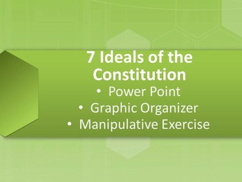 7 Ideals (Principles) of the Constitution Power Point and