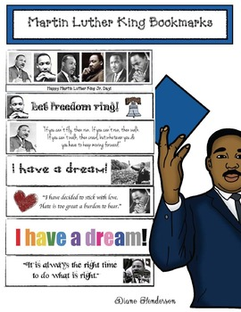 7 Martin Luther King Bookmarks #kindnessnation