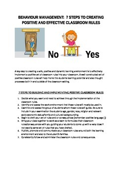 Behaviour Management: 7 Steps To Positive And Effective Cl