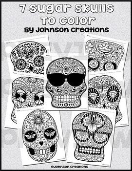 7 Sugar Skulls To Color