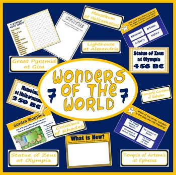 7 WONDERS OF THE WORLD TEACHING RESOURCES ANCIENT HISTORY