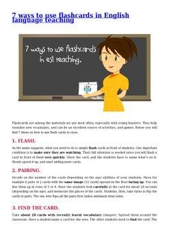 7 ways to use flashcards in ESL teaching