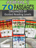 70 Leveled Guided Reading Passages (Animals) Guided Readin