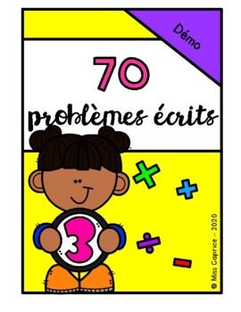 70 Problèmes écrits - 3e année