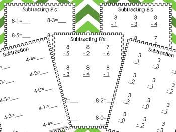 70 Subtraction Worksheets. Numbers 1-10. Preschool-Kindergarten