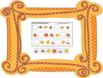 70 page preschool and daycare curriculum package with Fall
