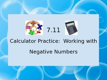 7.11 Working with Negative Numbers