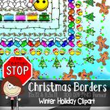 72 Christmas Holiday Borders - 12x12 & 8.5x11 Color&Outlin