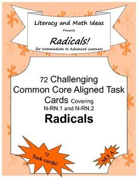 72 Radicals Task Cards (Set 1)