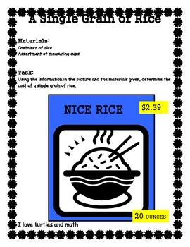 7.2d A Single Grain of Rice 7th grade Math