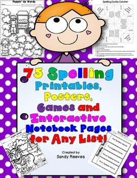75 Spelling Printables, Posters, Games and Interactive Not