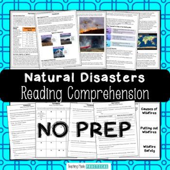 Natural Disasters Reading Comprehension Bundle