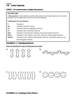 7.6 Frieze Pattern (Advanced Geometric Transformations)