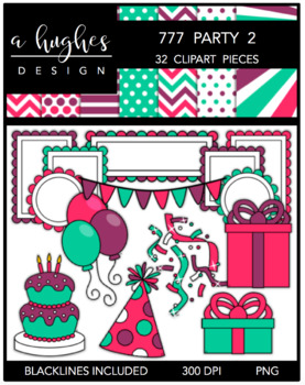 777 Party 2 Bundle {Graphics for Commercial Use}