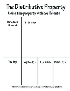7.EE.1 Distributive Property