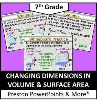(7th) Changing Dimensions in Volume and Surface Area in a