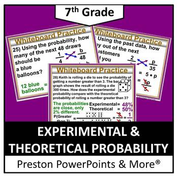 (7th) Experimental and Theoretical Probability in a PowerP