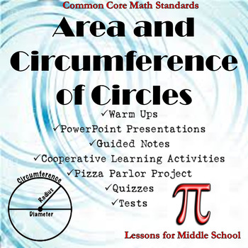 7th Grade Geometry - Area and Circumference of Circles Bundle