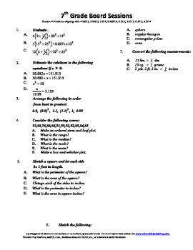 7th Grade Board Session 4,Common Core,Review,Math Counts,Q