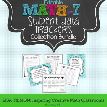 7th Grade Common Core Math Student Data Tracking Collectio