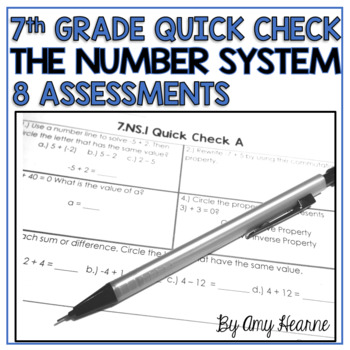 7th Grade Common Core Number System Quick Check Sheets & S