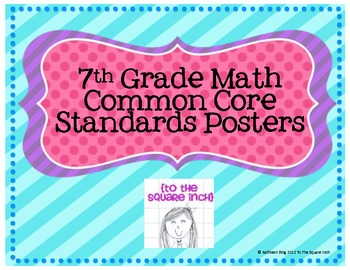 7th Grade Common Core Math Standards Posters