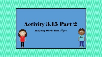 7th Grade ELA SpringBoard Activity 3.15 Part 2