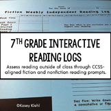 7th Grade Interactive Reading Log {Common Core Aligned}