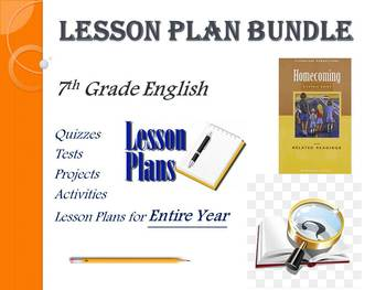 7th Grade English Lesson Plans (Entire Year - 42 Weeks)