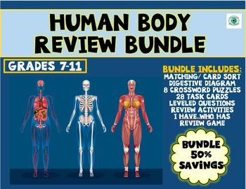 Human Body Systems Review Bundle